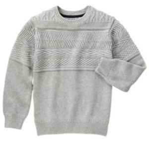 NWT Dressed Up Gymboree Boys Gray Sweater L 10-12